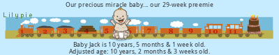 Lilypie Premature Baby tickers